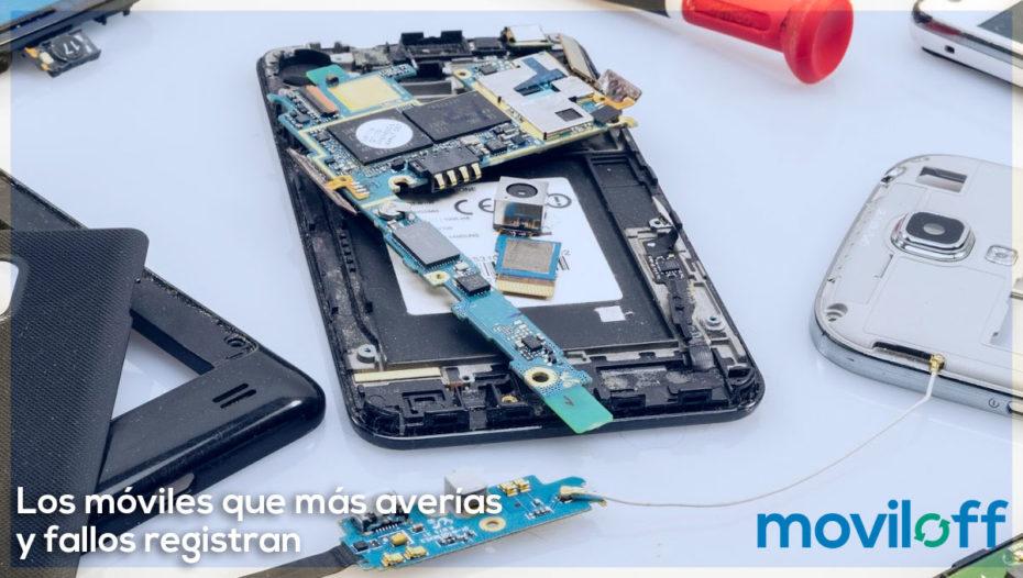 Los móviles que más averías y fallos registran