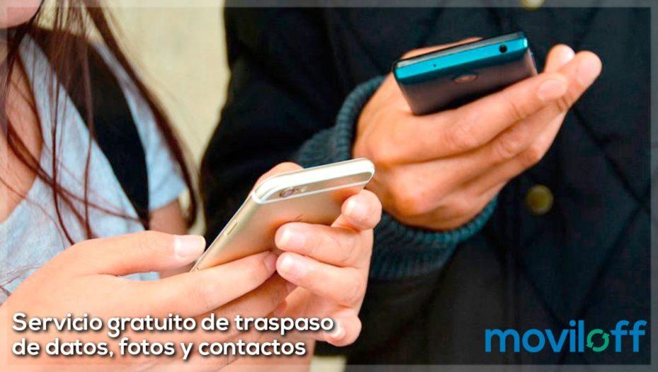 Servicio gratuito de traspaso de datos, fotos y contactos