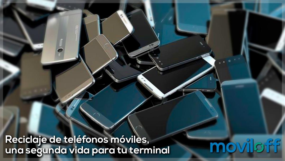 Reciclaje de teléfonos móviles o smartphones