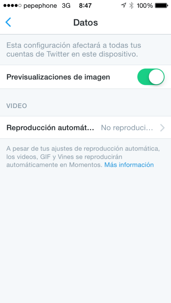 reproducción automática de videos en Twitter ios